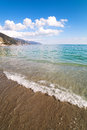Waves at italian coast meediterranean sea liguria italy Royalty Free Stock Photos
