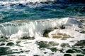 Waves  in Mediterranean sea Royalty Free Stock Images