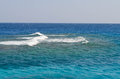 Waves on Red Sea horizon Royalty Free Stock Photo