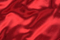 Waves of red silk Royalty Free Stock Image