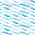 Waves seamless pattern Stock Images