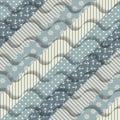 Waves on striped pattern