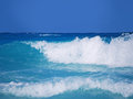 Waves on turquoise sea Royalty Free Stock Photo