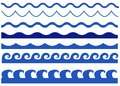Waves vector set isolated