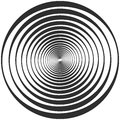 Waves on the water wave propagation in space concentric circle