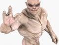 Waving alien creature muscular monster Stock Images