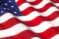 Waving american flag iconic symbol of patriotism Royalty Free Stock Image