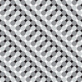 Waving circles black and white optical illusion vector seamles seamless pattern background some effect appears Stock Photo