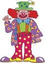 Waving clown
