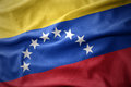 Waving colorful flag of venezuela. Royalty Free Stock Photo