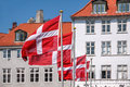 Waving Danish flag Royalty Free Stock Photo