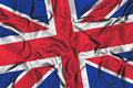 Waving flag of the United Kingdom Royalty Free Stock Photos