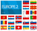 Waving Flags of European Countries - Part 2 Royalty Free Stock Images