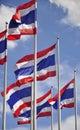 Waving Thai flags Royalty Free Stock Photo