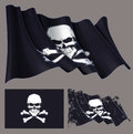 Waving Pirate Flag Skull and Bones