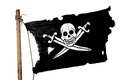 Waving Pirate Flag Royalty Free Stock Photo