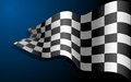 Waving Race Flag Royalty Free Stock Photo