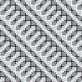 Waving squares black and white optical illusion vector seamless pattern background some effect appears Royalty Free Stock Photography
