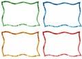 Wavy borders set color frames Stock Photos