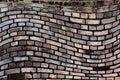 Wavy, brick background Royalty Free Stock Photo