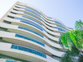 Wavy Building in Brazil Royalty Free Stock Photo