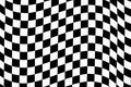 Wavy checkered pattern Royalty Free Stock Photo