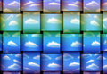 Wavy Clouds Stock Photography