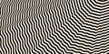 Wavy crossed stripes optical illusion black and white vector Royalty Free Stock Photo
