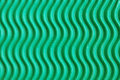 Wavy green cardboard Royalty Free Stock Photography