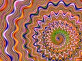 Spiral waves and colourful