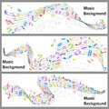 Wavy music notes banner easy to edit vector illustration of Stock Images