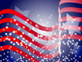 Wavy Patriotic Background Stock Image