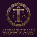 Wavy Patterned Gold Letters Wi...