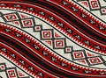 Wavy Red Sadu Traditional Bedouin Rug Pattern Background Royalty Free Stock Photo