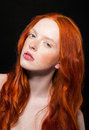 Wavy Red Hair Royalty Free Stock Image