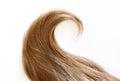 Wavy strand of blonde hair Royalty Free Stock Photo