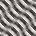 Wavy stripes vector seamless pattern. Retro wavy texture. Geometric lines monochrome design.