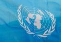 Wavy United Nations flag Royalty Free Stock Photo