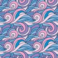 Fantasy curles colorful texture. Hand drawn abstract background in colors of blue, purple and pink Royalty Free Stock Photo