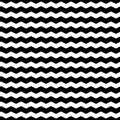 Wavy zigzag lines seamless pattern. Distorted lines texture. Royalty Free Stock Photo