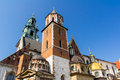 Wawel castle buildings of the in cracow poland Royalty Free Stock Photo