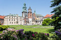 Wawel castle the historic in krakow poland Royalty Free Stock Photos