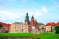 Wawel Castle in Krakow Stock Image