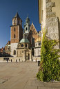 Wawel Castle in Krakow on a beautiful day Stock Images