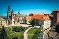 Wawel castle in krakow beautiful view on Stock Photos