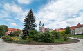 Wawel castle in krakow is a fortified architectural complex erected over many centuries atop a limestone outcrop on the left bank Stock Photography