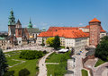 Wawel castle krakow the historical wavel in poland Royalty Free Stock Photography