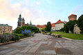 Wawel castle krakow panorama home of kings old capitol of poland Stock Photos