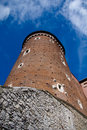 Wawel castle tower. Krakow, Poland Royalty Free Stock Photos