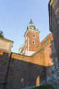 Wawel castle view on in krakow poland europe Royalty Free Stock Photography